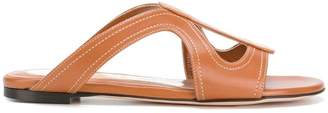 Alexander McQueen cut out sandals