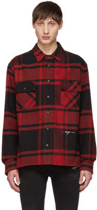Off-White Red and Black Luxury Checked Shirt