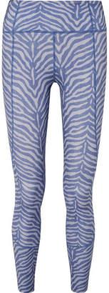 Varley - Bedford Zebra-print Stretch Leggings - Blue
