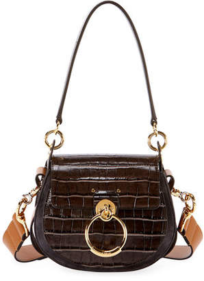 Chloé Tess Small Embossed Leather Shoulder Bag