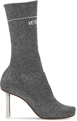 Vetements 90mm Lighter Socks Lurex Ankle Boots