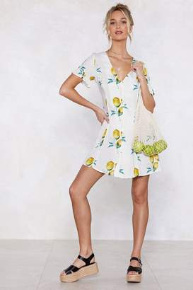 Nasty Gal When Life Gives You Lemons Button Dress