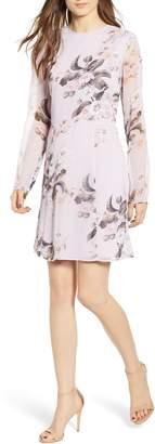 Leith Long Sheer Sleeve Floral Dress