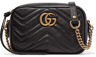 Gucci Gg Marmont Camera Mini Quilted Leather Shoulder Bag - Black