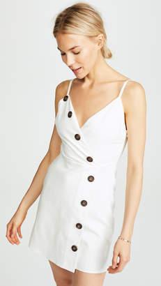 Moon River Button Front Sleeveless Dress
