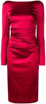 Talbot Runhof draped fitted dress