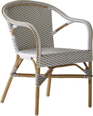 Lulu & Georgia Lea Indoor/Outdoor Bistro Chair, Cappuccino Dot