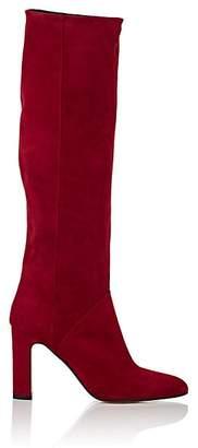 Barneys New York Women's Suede Knee Boots - Red
