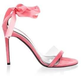 Calvin Klein Men's Bow Suede Stiletto Pumps - Blush - Size 36.5 (6.5)