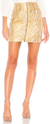 BCBGMAXAZRIA Metallic Mini Skirt