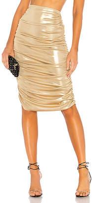 Norma Kamali Shirred Skirt