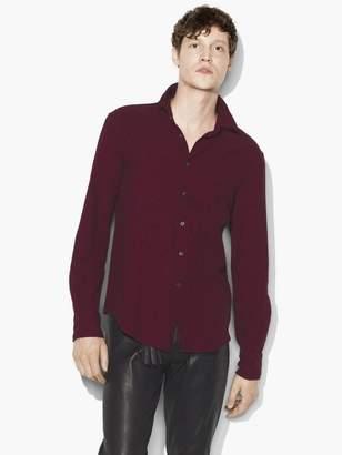 John Varvatos Micro Plaid Shirt