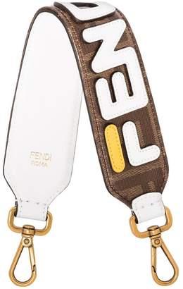 Fendi x Fila brown Mini Strap You leather bag strap