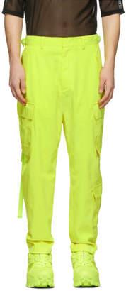 Juun.J Yellow Cropped Cargo Pants