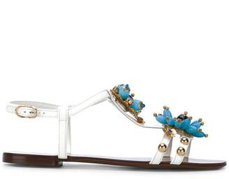 Dolce & Gabbana flower embellished sandals