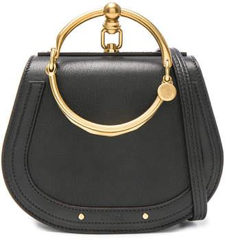 Chloé Small Nile Bracelet Bag Calfskin & Suede in Black | FWRD