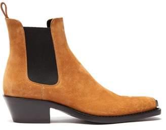 Calvin Klein Chris Western Suede Boots - Mens - Brown