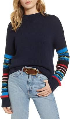 Treasure & Bond Patchwork Sleeve Pullover