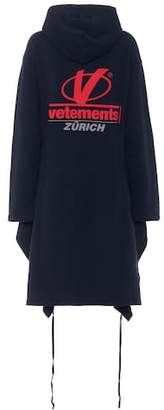 Vetements Logo printed cotton-blend hoodie