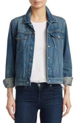 Rag & Bone Rag& Bone Women's Nico Stretch Denim Jacket - Worn Indigo - Size XS