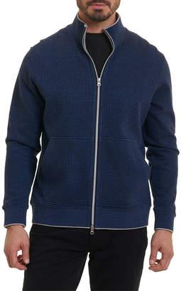 Robert Graham Hyde Park Classic Fit Full Zip Mock Pullover