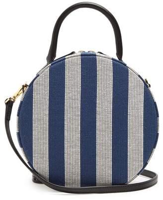 Mansur Gavriel Circle Cotton Canvas Cross Body Bag - Womens - Blue Stripe