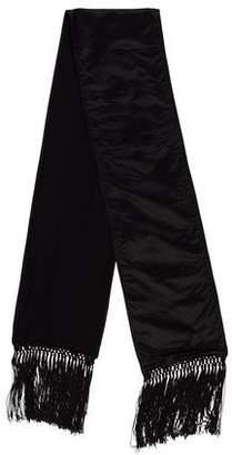 Saint Laurent Silk Wool-Lined Stole