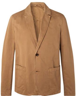 Mr P. Tobacco Unstructured Garment-Dyed Cotton-Twill Blazer