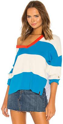 Kule Striped V Neck Sweater