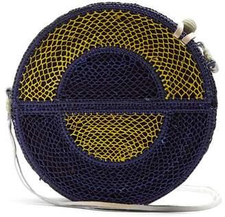 Sophie Anderson - Nilsa Woven Straw Cross Body Bag - Womens - Blue Multi
