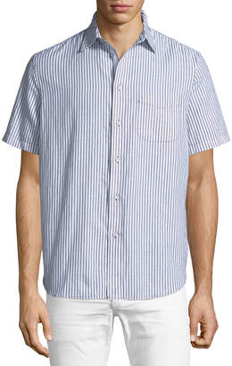 Rag & Bone Men's Striped Short-Sleeve Beach Shirt