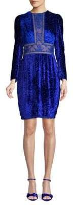 Tadashi Shoji Lace Inset Velvet Sheath Dress