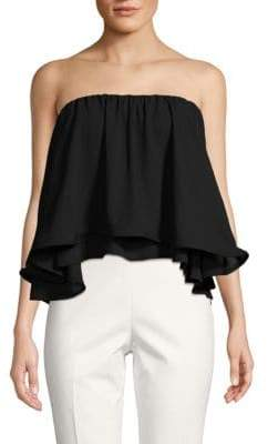 Ruffled Strapless Top