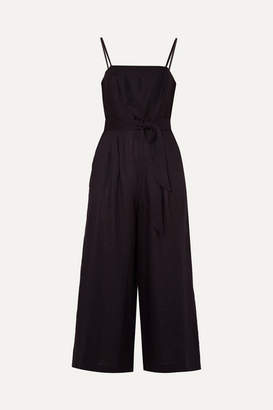 J.Crew Marseille Belted Linen Jumpsuit - Black