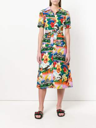 Gucci Hawaiian print dress