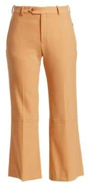 Chloé Chloé Women's High-Rise Stretch Wool Pants - Bleached Brown - Size 42 (10)