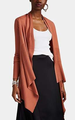 Rick Owens Women's Virgin Wool Wrap Cardigan - Pink