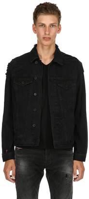 Diesel Distressed Cotton Denim Shirt Jacket