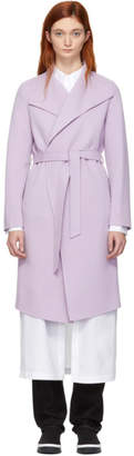 Mackage Purple Wool Leora Wrap Coat
