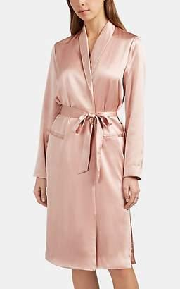 Fleur Du Mal Women's Silk Satin Robe - Rose