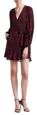 A.L.C. Women's Embry Wrap Mini Dress - Bordeaux Black - Size 4