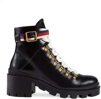 Gucci Trip Lug Sole Combat Boot