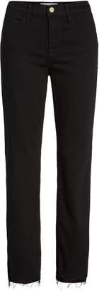Frame Le High Straight High Waist Staggered Hem Jeans