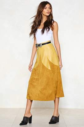 Nasty Gal Know a Thing or Two Faux Suede Skirt