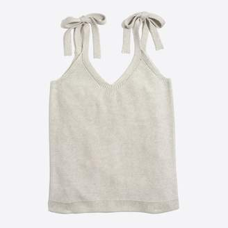 J.Crew Factory Tie-shoulder sweater tank top