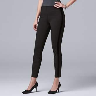 Vera Wang Women's Simply Vera Velvet-Stripe Ponte Leggings