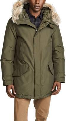 Woolrich Polar Parka Coat with Fur Trim