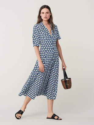 Diane von Furstenberg Lily Cinch Sleeve Midi Dress