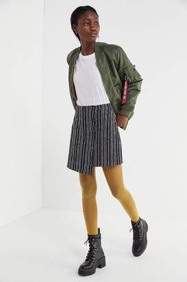Urban Outfitters Ellie Striped Side-Button Mini Skirt