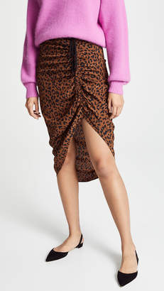 Diane von Furstenberg Ruched Side Slit Skirt